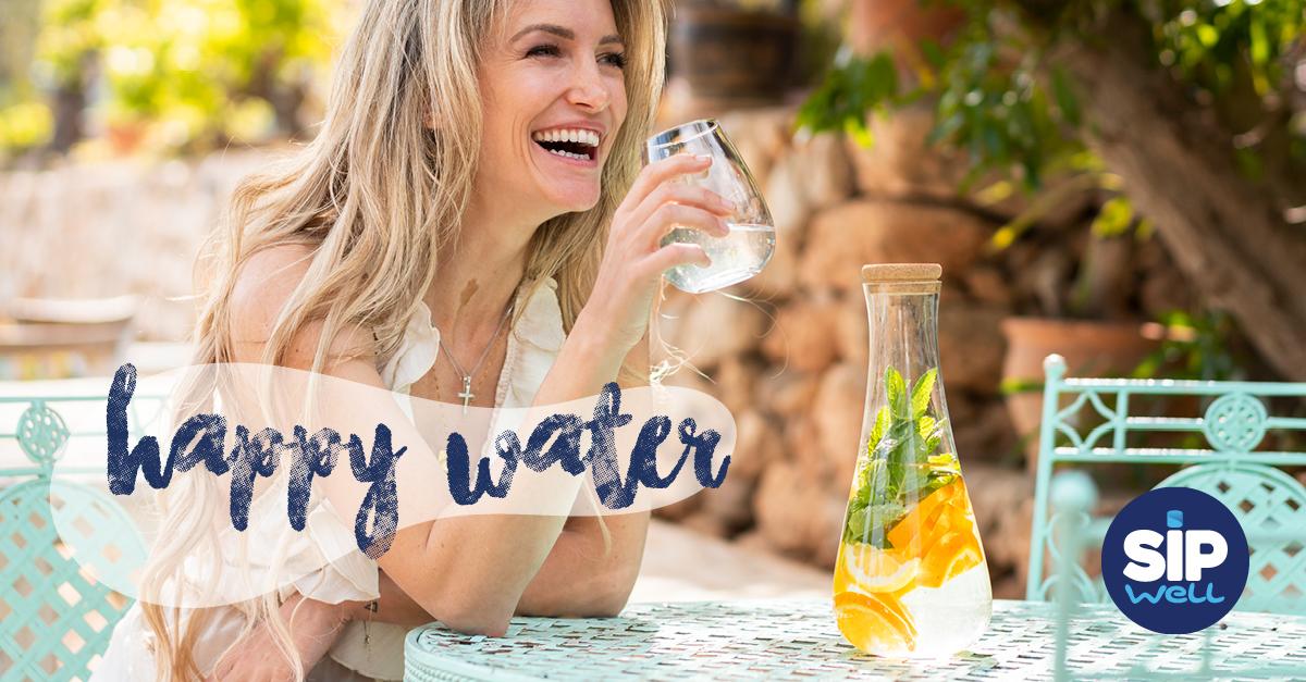 SipWell en Steffi Vertriest lanceren 'Happy Water'