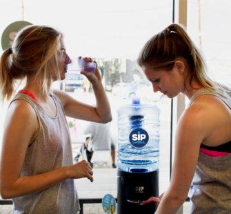 Water drinken en sporten